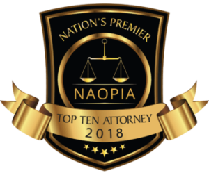 Award Showing Expertise in Personal Injury and Head Injury Claims.