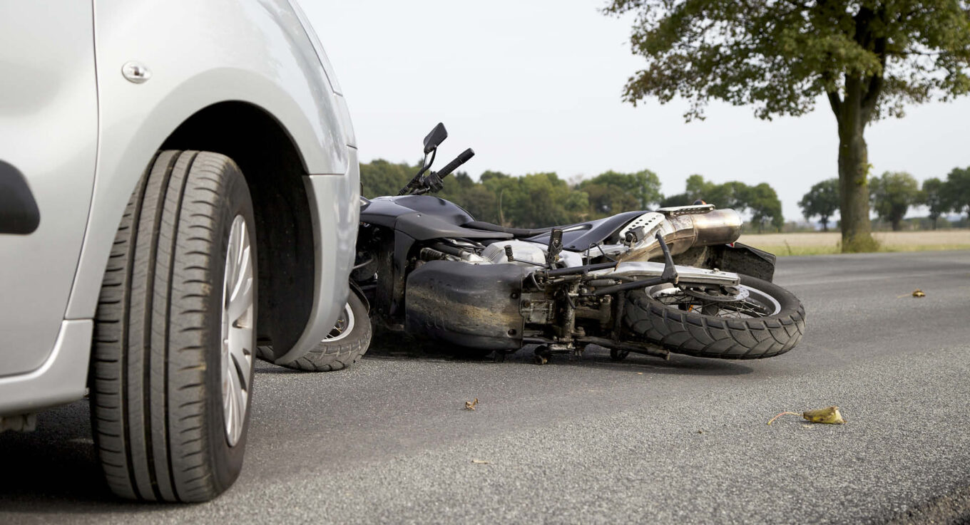 Scene of a motorcycle wreck