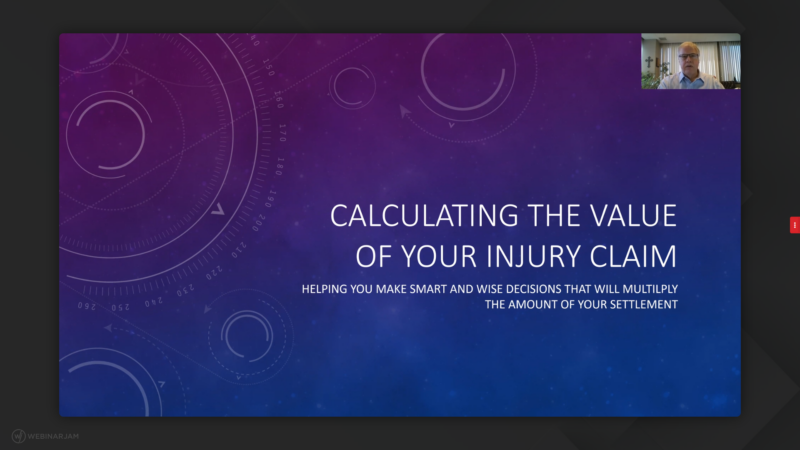 Calculating the Value of Your Personal Injury Claim: Webinar